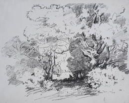 A View Through Trees - Sir Alfred East (1844 - 1913)