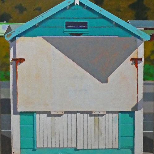 Lyme Regis Beach Hut 4 by Gethin Evans