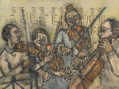 The Doric String Quartet by Sula Rubens A.R.W.S.