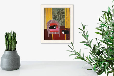 interior-with-cats-by-jill-leman-framed-