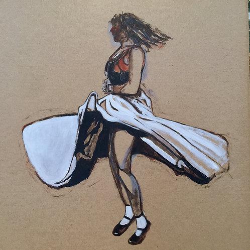 Study of girl dancer by David Barrow