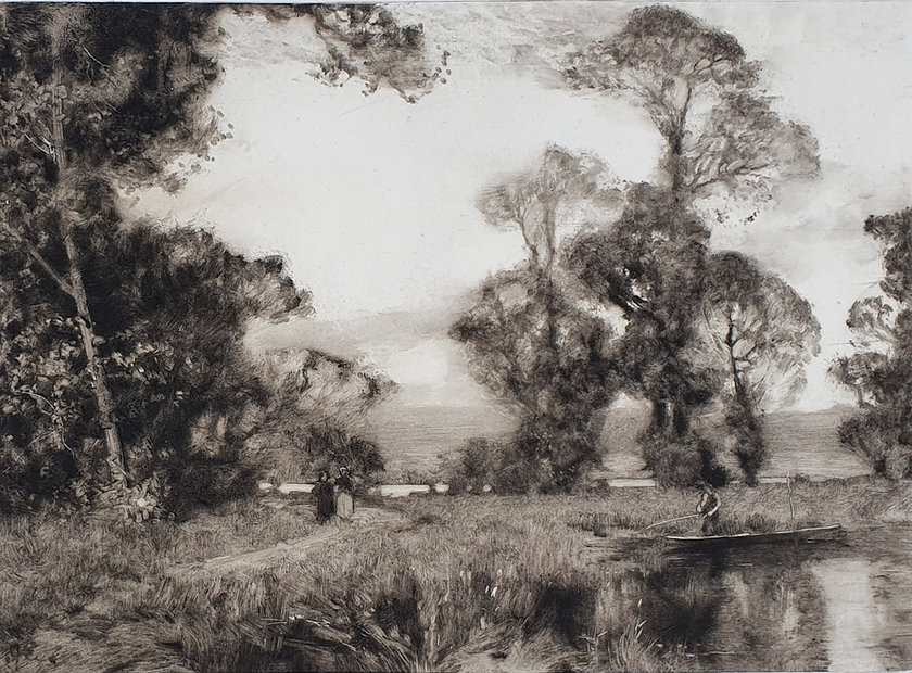 Sir Alfred East - Etchings