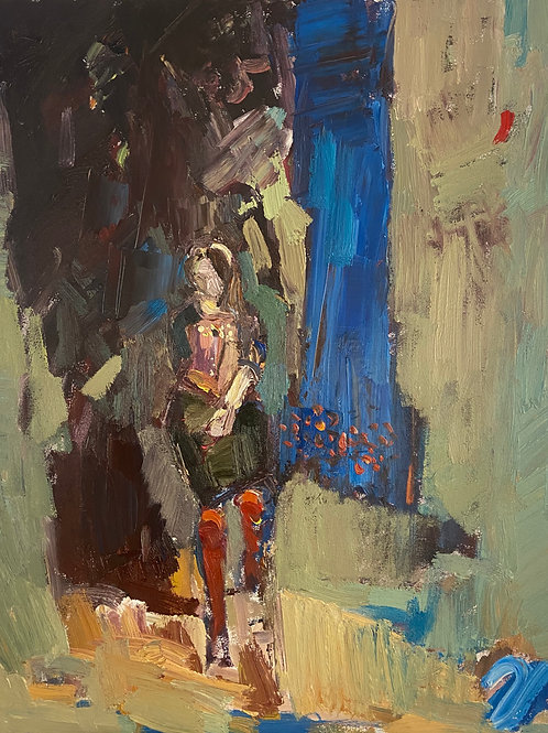 The singer sits on her stool waiting to perform by Paul Wadsworth