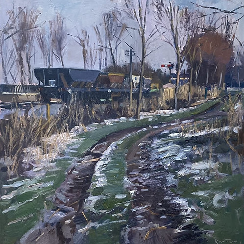 Coal Carts, Winter by Karl Terry