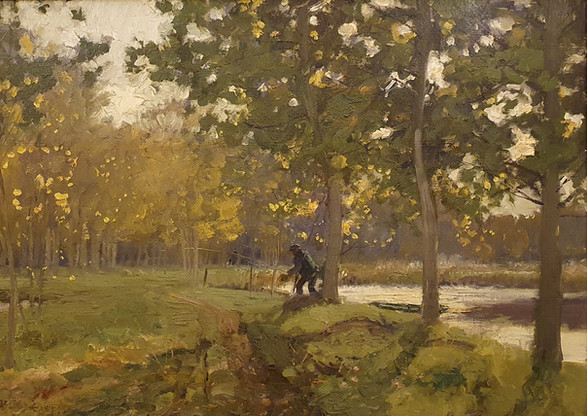 A Shady Pool - Sir Alfred East (1844 - 1913)