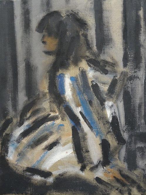 Cordelia in a  Striped Robe by Ghislaine Howard