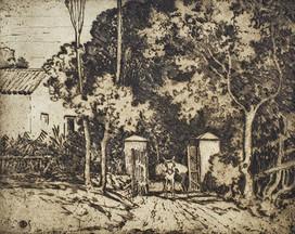 A Spanish Garden - Sir Alfred East (1844 - 1913)