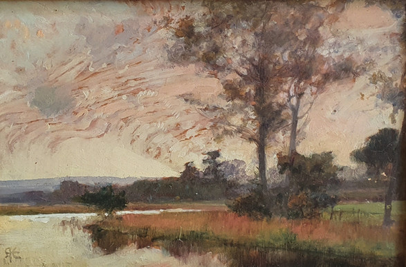 Yardley Sky - Sir Alfred East (1844 - 1913)