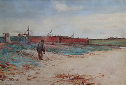 Salmon Fishing Station on the Scottish Coast - Sir Alfred East (1844 - 1913)