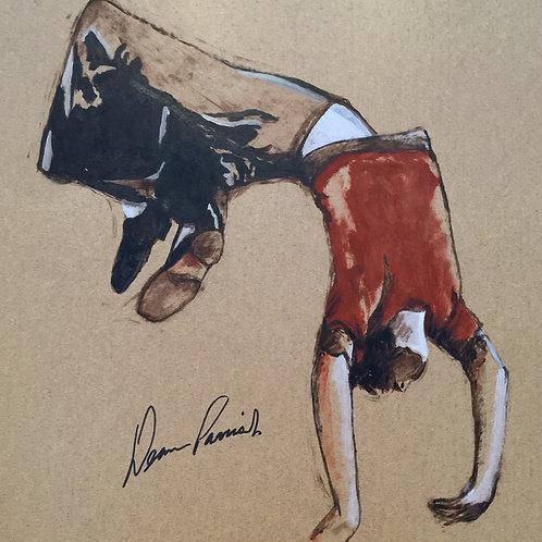 Study of dancer - Back flip by David Barrow