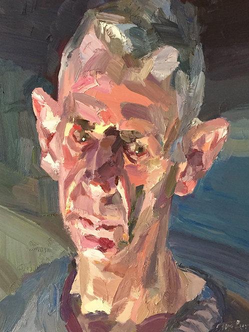 Hugh by lamplight by Tim Benson