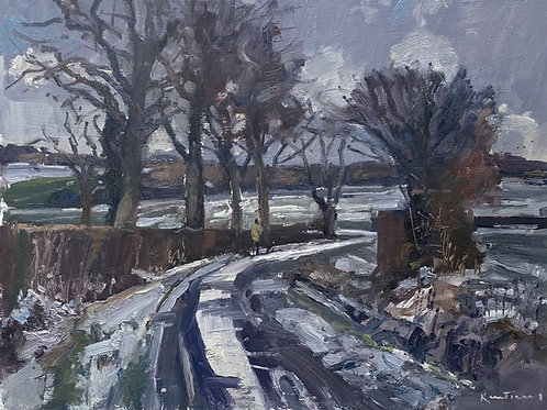Snowy Lane by Karl Terry