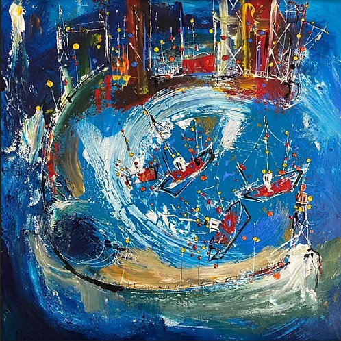Harbour Wharf by Martin John Fowler