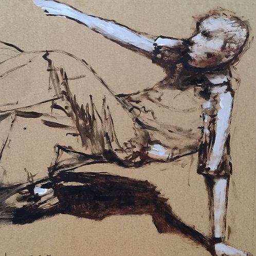 Study of dancer - Back drop by David Barrow