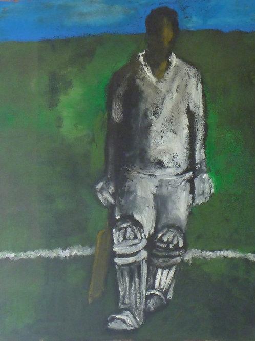 Batsman by Sula Rubens A.R.W.S