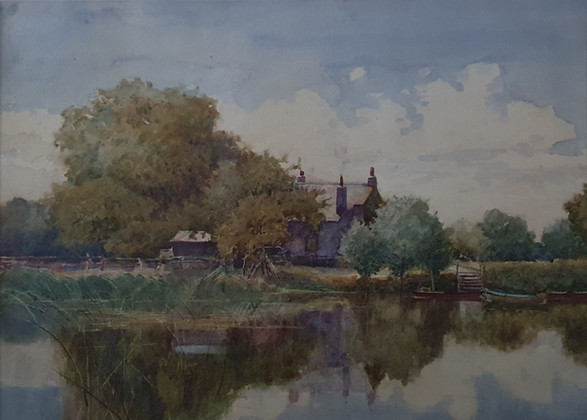 The Mill - Sir Alfred East (1844 - 1913)