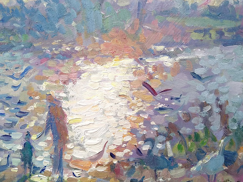 Light on the pond by Andrew Farmer