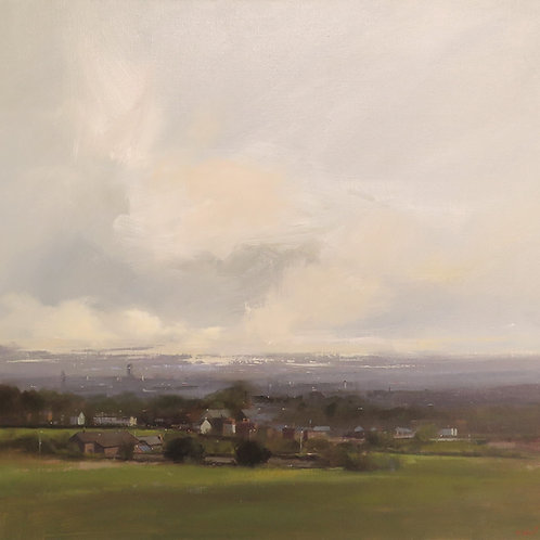 Where Land Meets Sky, A Distant Manchester by Michael J Ashcroft