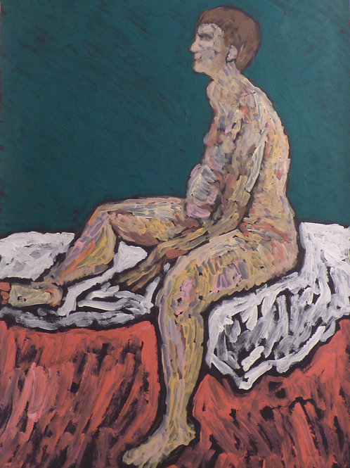 Male nude in green white red by ASK Fulgur