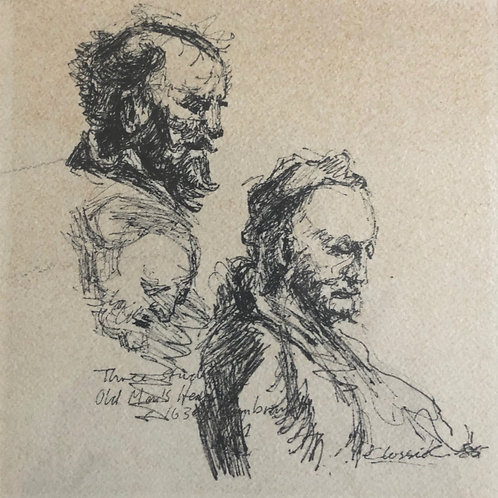 Study after Rembrandt by Peter Clossick