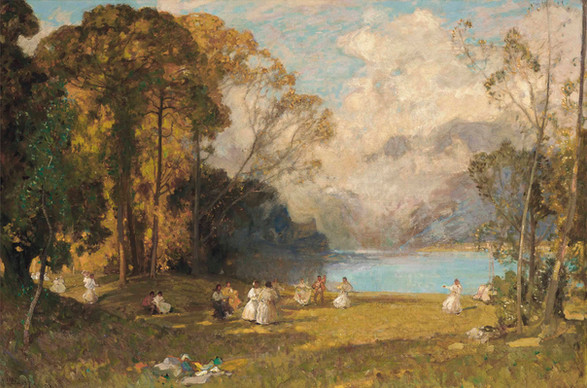 An Idyll at Como - Sir Alfred East (1844 - 1913)