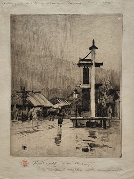 A Wet Day at Hakone - Sir Alfred East (1844 - 1913)
