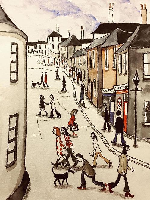1960's Street Scene by David J Ansell