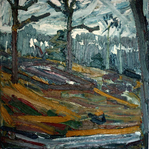 Copsed Wood, Winter by Peter Clossick