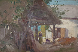 A North African Hut - Sir Alfred East (1844 - 1913)