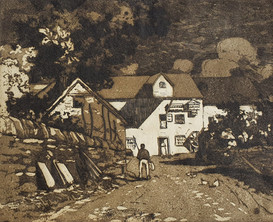 The White Mill - Sir Alfred East (1844 - 1913)