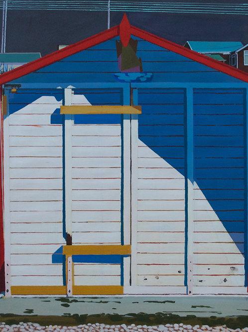 Lyme Regis Beach Hut 3 by Gethin Evans