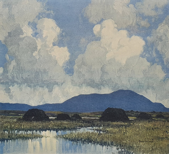 Turf Fields with the Mountains Beyond - Paul Henry (1876 – 1958)