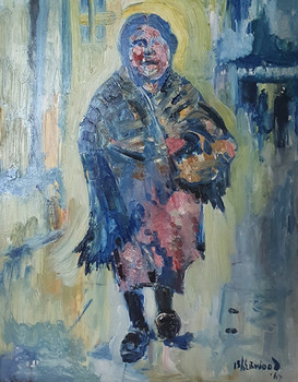Woman in Clogs and Shawl, Wigan - James Lawrence Isherwood (1917 – 1989)