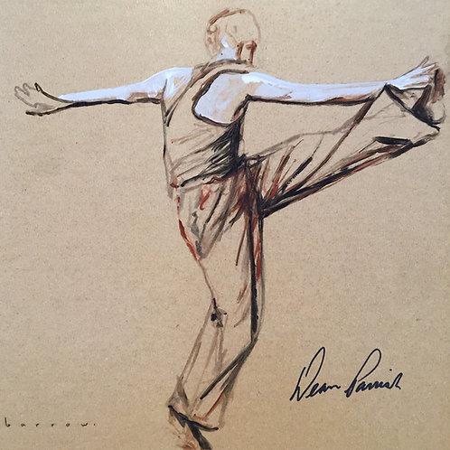 Study of dancer - The kick by David Barrow