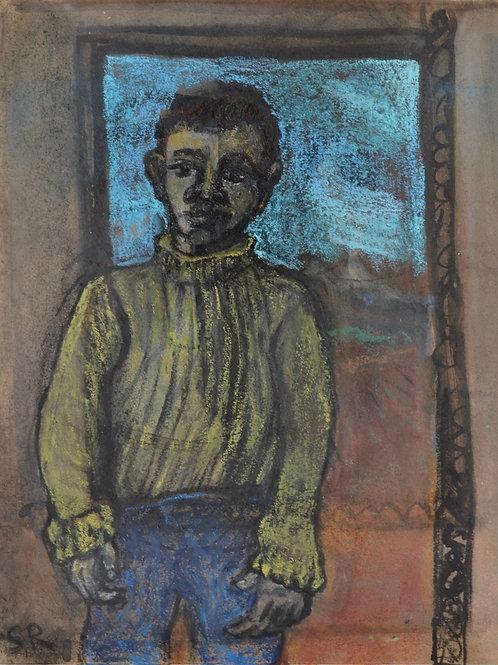 Kin Study - Boy in a Doorway by Sula Rubens A.R.W.S.