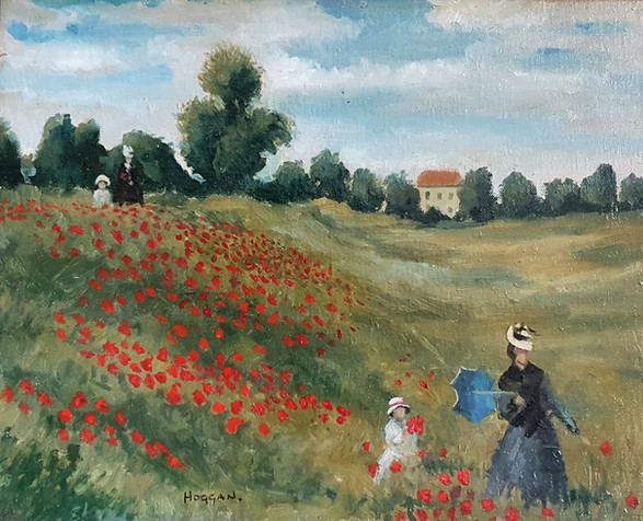 Monet's Poppy Fields - Jack Vettriano (1951 - )
