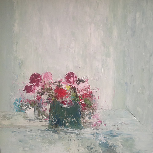 Table Roses by Lorraine Wake