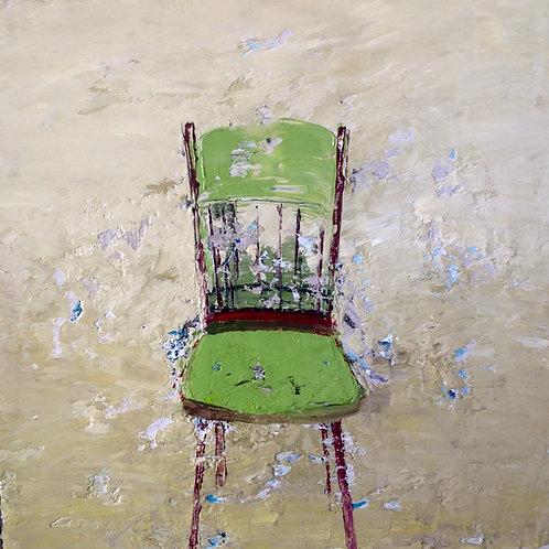 Red legged chair by Lorraine Wake