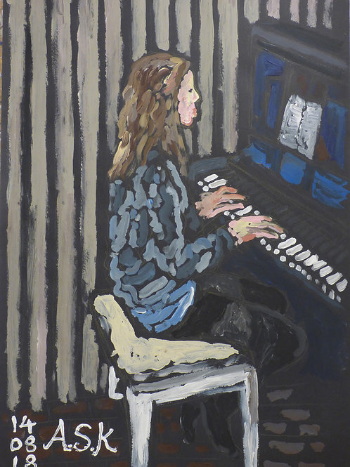 Girl playing piano by ASK Fulgur