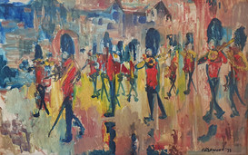 Pink Rain, Guards Band, Buckingham Palace - James Lawrence Isherwood (1917 – 1989)