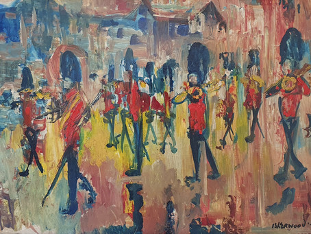 Pink Rain, Guards Band, Buckingham Palace - James Lawrence Isherwood (1917 – 1989)