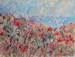 Wild Poppies by the Shore Jackie Philip.