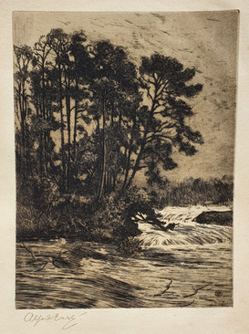 The Swollen River - Sir Alfred East (1844 - 1913)