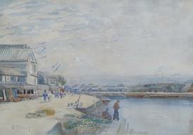 The Boys Festival, Yokohama - Sir Alfred East (1844 - 1913)