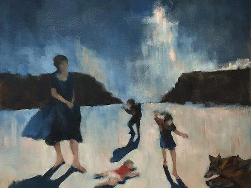 Shoreline family by Annemarie Stanley