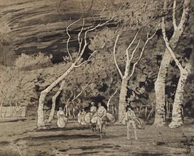 A Spanish Road - Sir Alfred East (1844 - 1913)