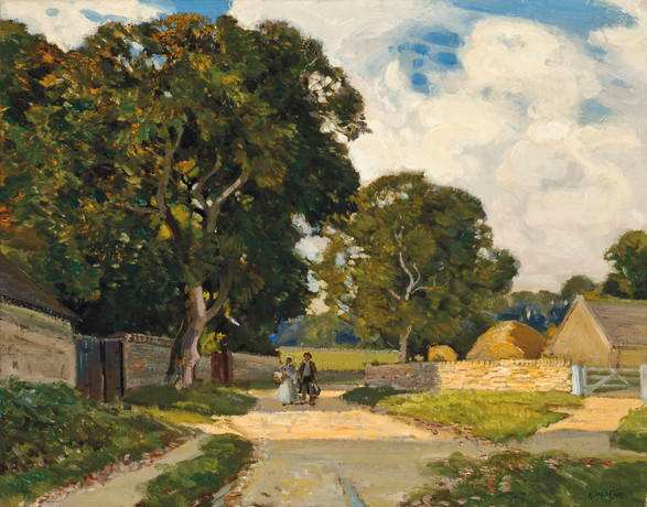 On the Tewkesbury Road - Sir Alfred East (1844 - 1913)