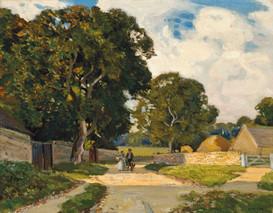 On the Tewkesbury Road - Sir Alfred East (1844 - 1913)