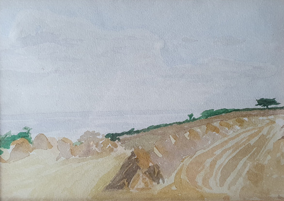 View across Gwavas Cornfield - Thomas Cooper Gotch (1854 – 1931)