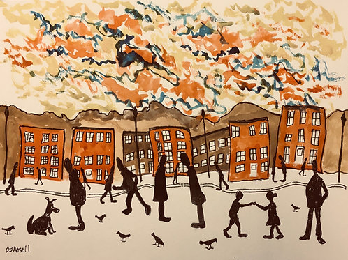 Confetti Skies by David J Ansell